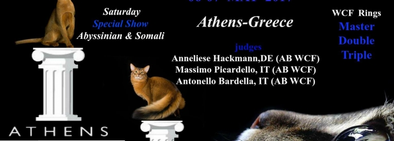 Banner for world show Athens 2017